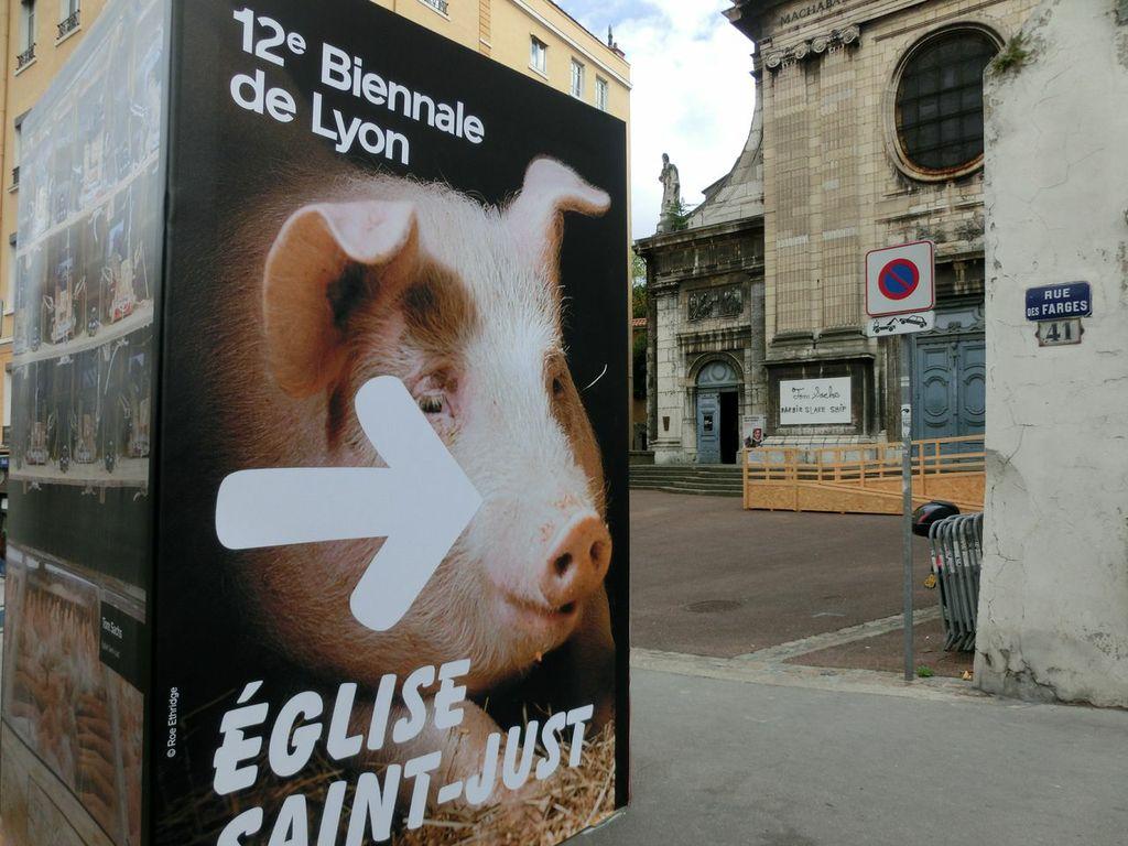 Plakat der 12. Lyon Biennale nach Motiven von Roe Ethridge