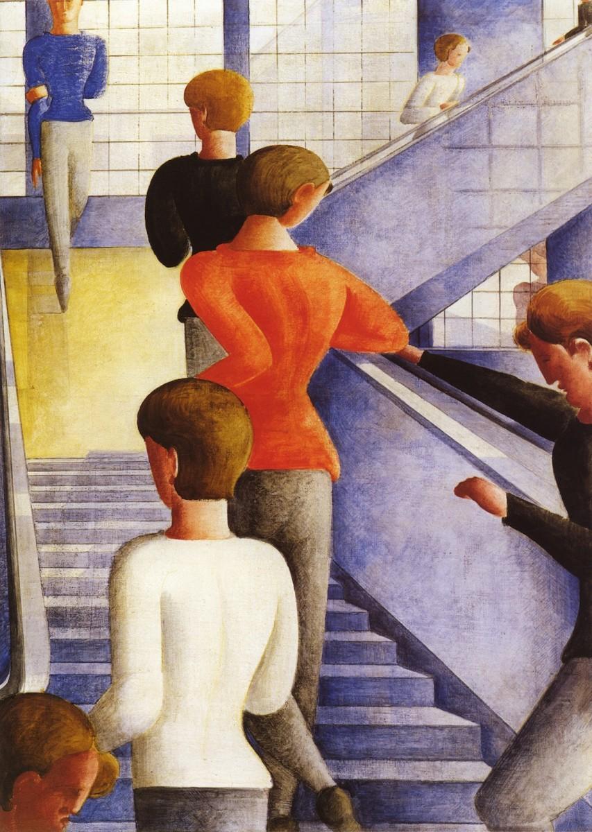 Oskar Schlemmer, Bauhaustreppe, 1932 // MOMA, NY