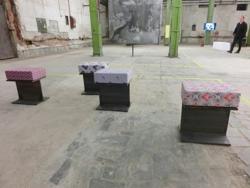 Sonia Leimer, Installationsfoto HOPE, Moskau 2015 // SBV