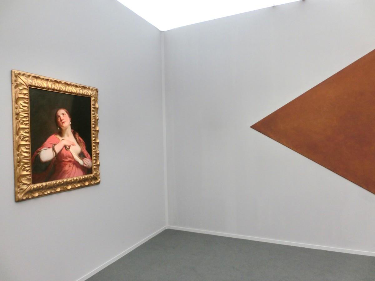 Guido Cagnacci neben Richard Serra (Moretti; Hauser & Wirth)