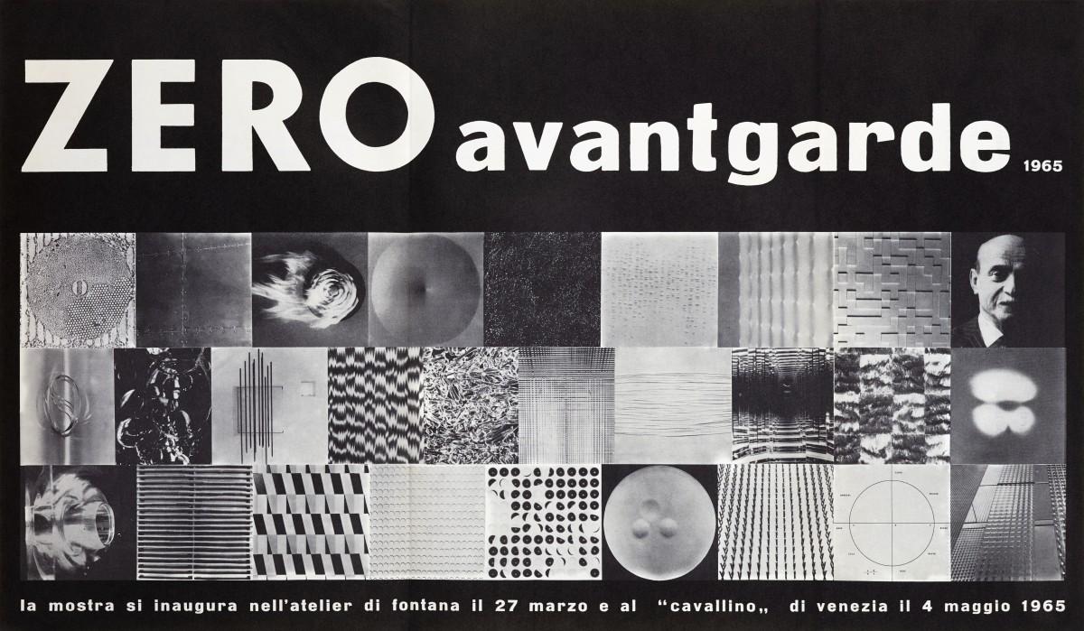 Hans Bischoffshausen, ZERO avantgarde 1965 Plakat // Belvedere