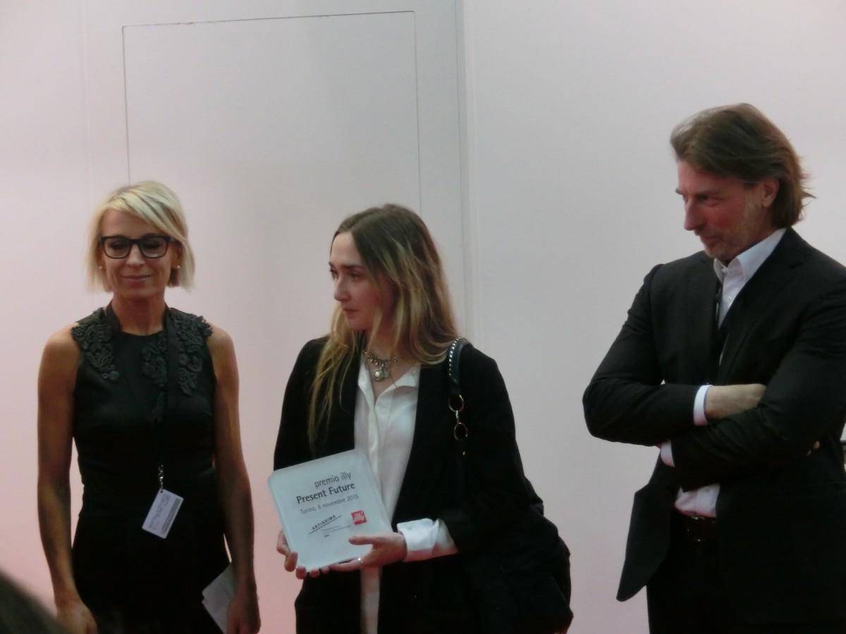 Illy Prize: Sarah Cosulich Canarutto (l), Alina Chaiderov (Mitte), Kurator Illy Illy Prize: Sarah Cosulich Canarutto (l), Alina Chaiderov (Mitte), Carlo Bach