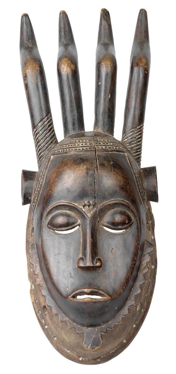 Portrait-Maske ´Mblo´o ´Ndoma´, Baule, Elfenbeinküste