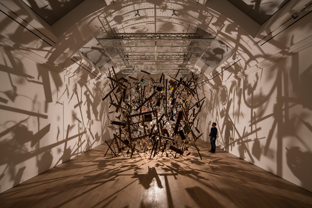 Cornelia Parker, Cold Dark Matter: An Exploded View, the Whitworth © David Levene