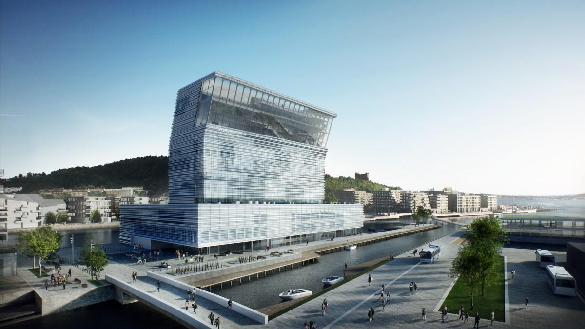 Entwurf f d neue Munch Museum, das 2020 eröffnen soll