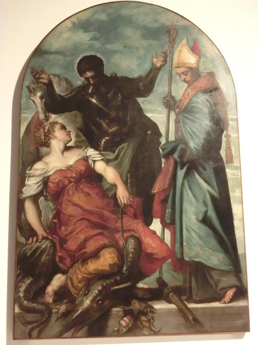 Tintoretto, St. Louis, St. Georg u. die Prinzessin, 1551-1552