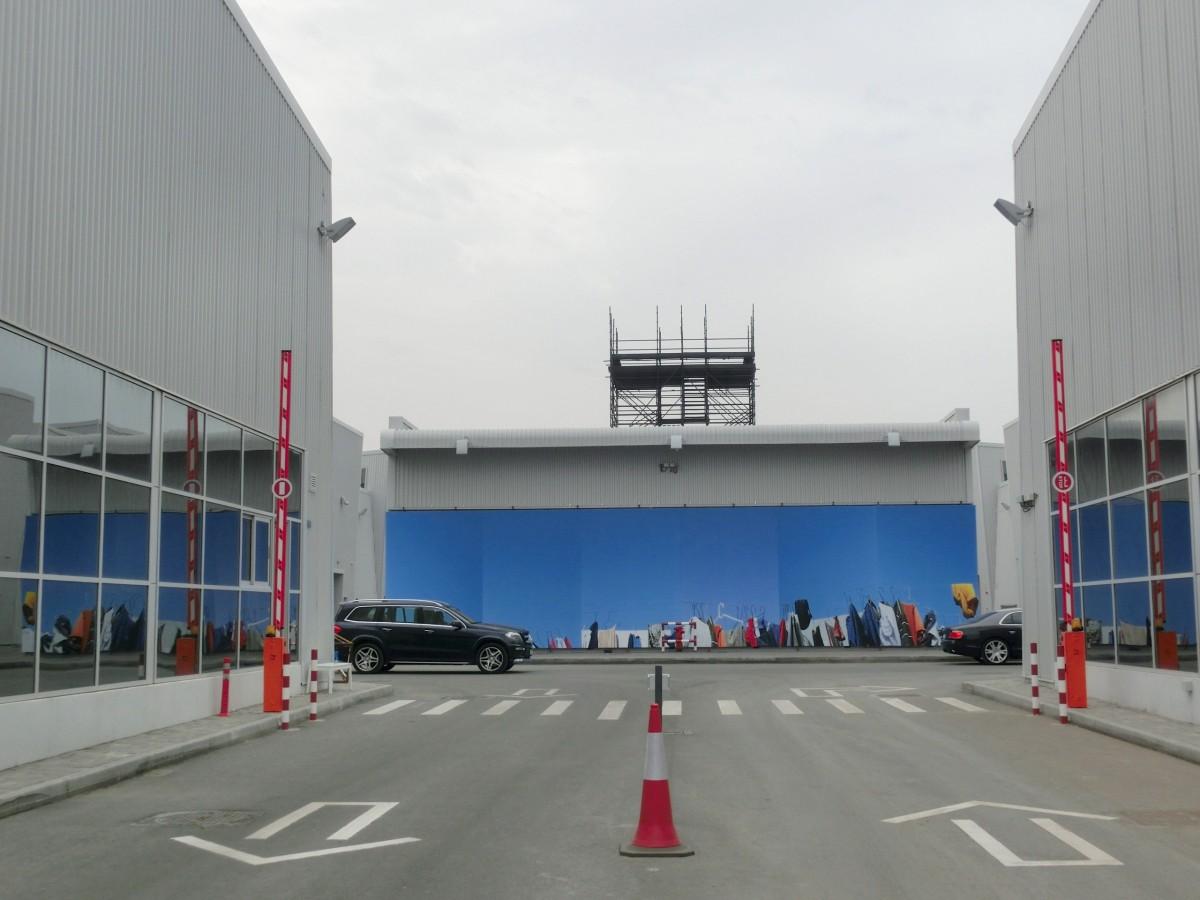 Haupteingang zum Galerienzentrum Alserkal Avenue // SBV