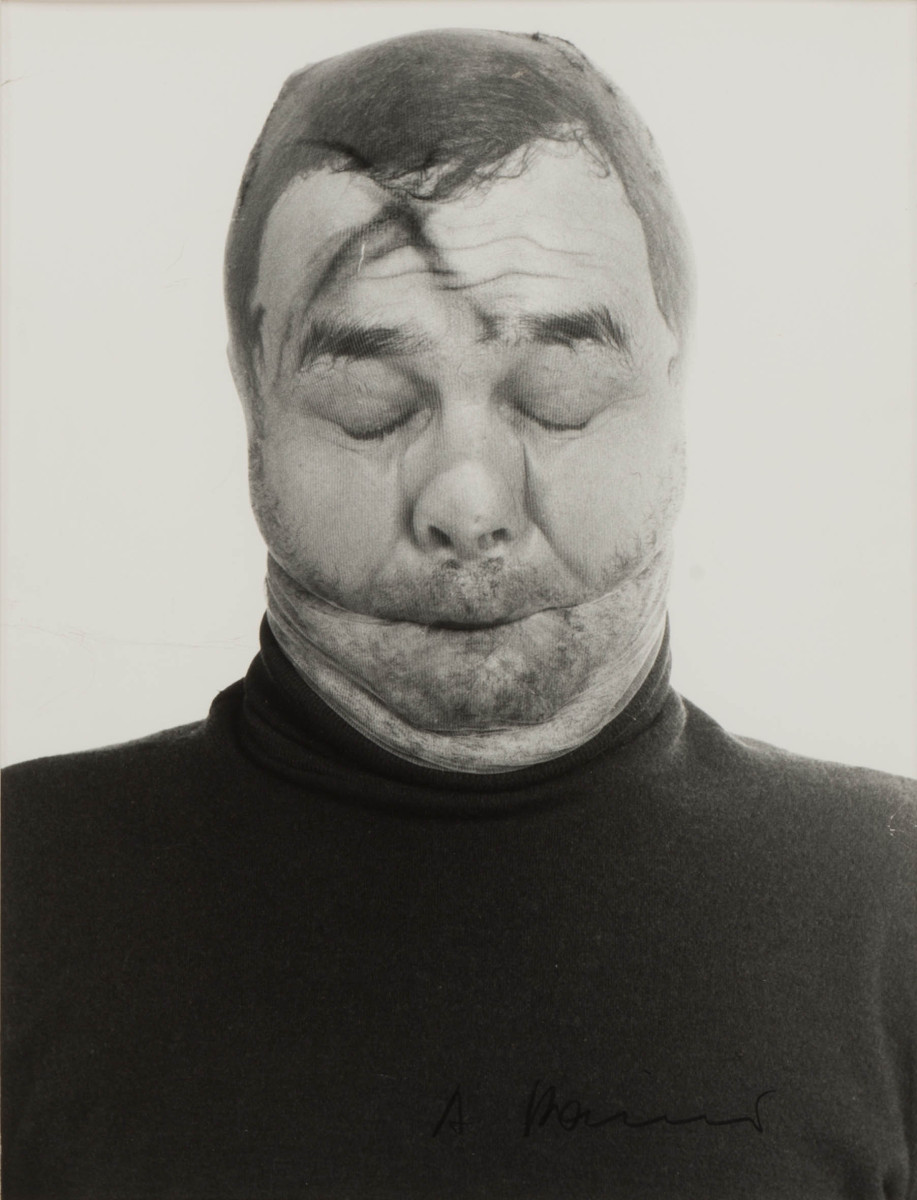 Arnulf Rainer, Face Farces, 1972. SW Foto. Rufpreis 600,- Courtesy AAC