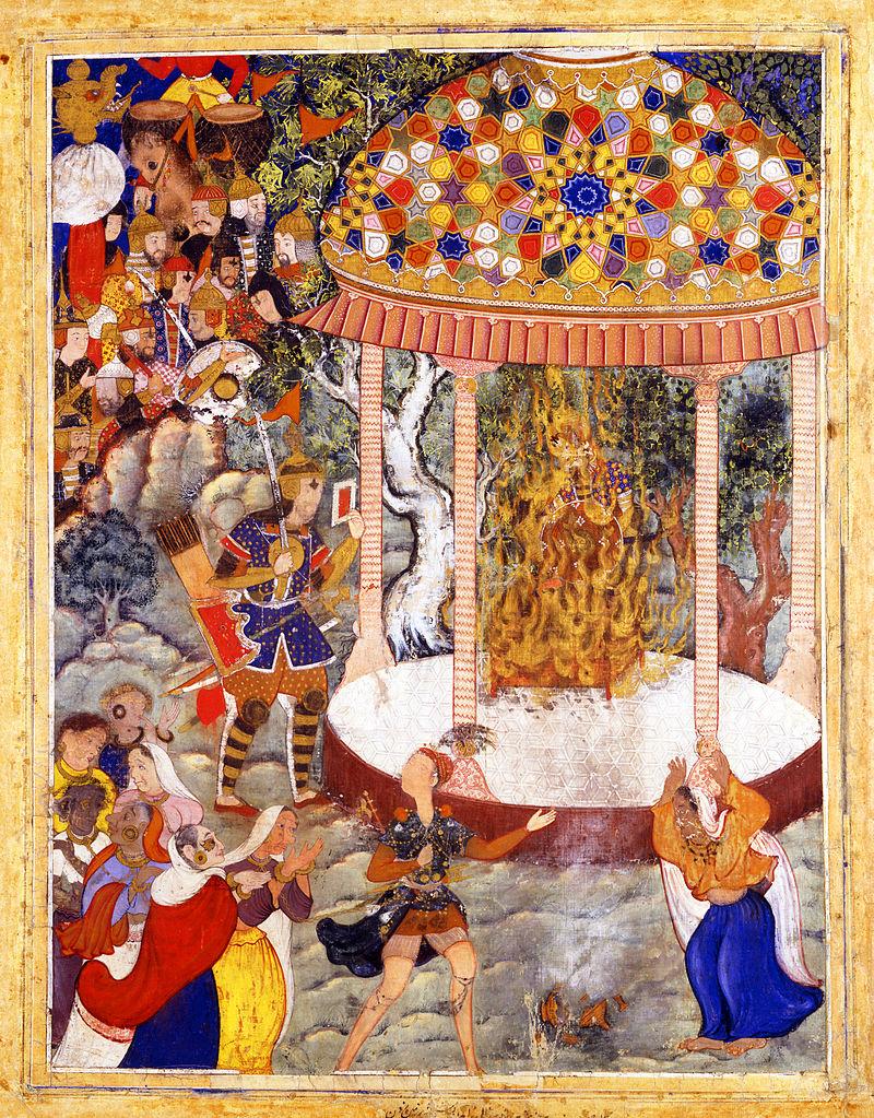 Szene aus Hamzanama