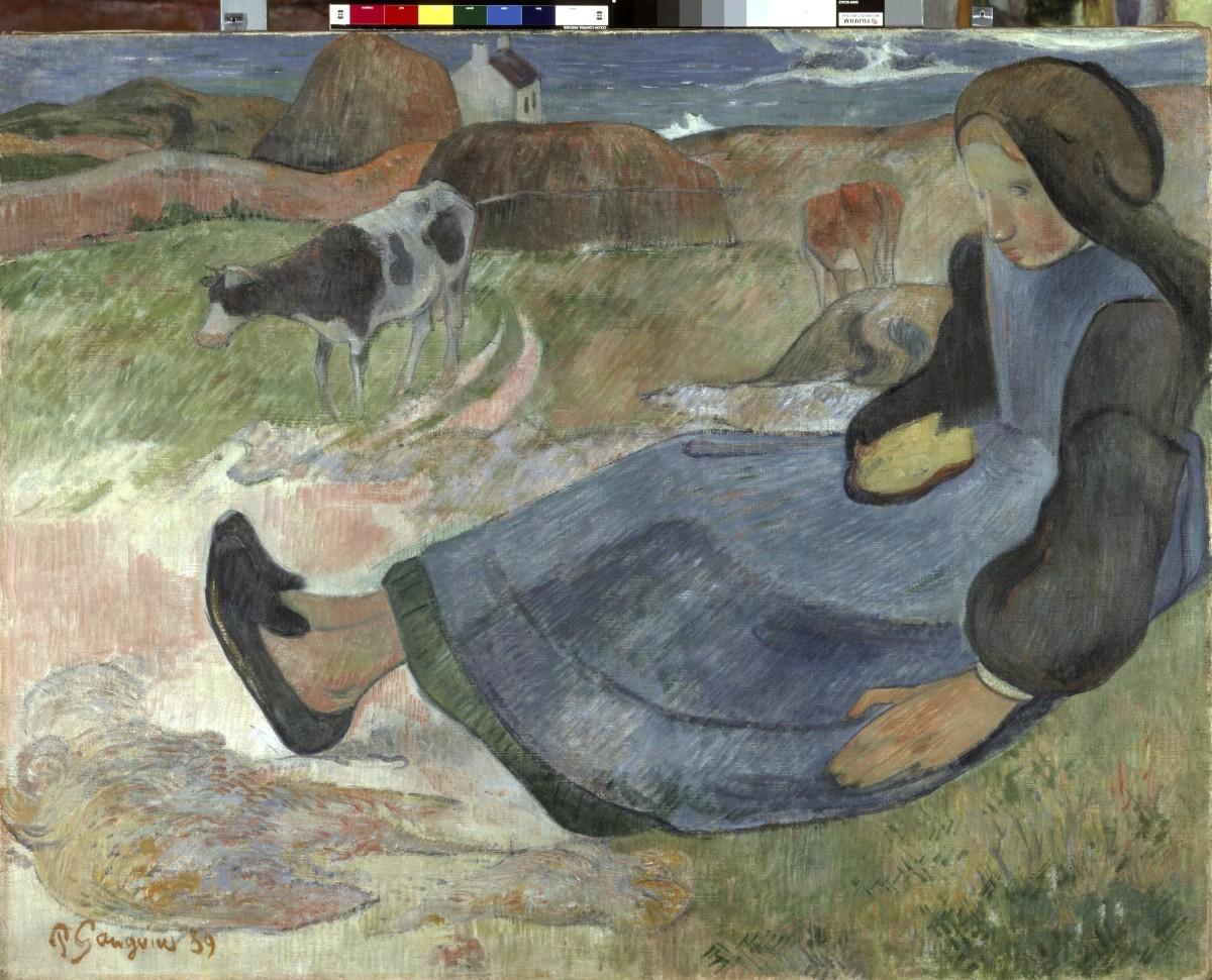 Paul Gauguin, Hyrdepige fra Bretagne Breton Girl 1889 Ny Carlsberg Glyptotek