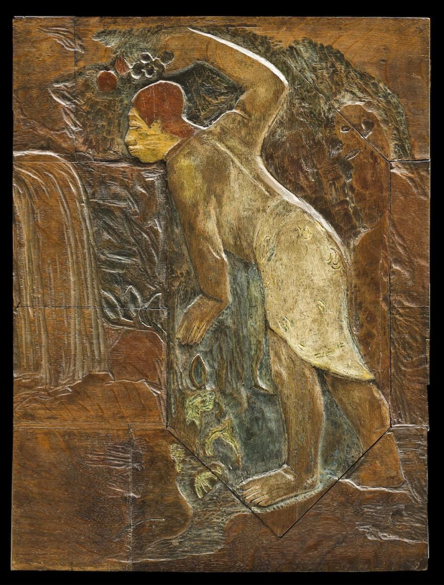 Paul Gauguin, Pape moe (Mysterious Water) 1894, Holz, bemalt. Ny Carlsberg Glyptotek