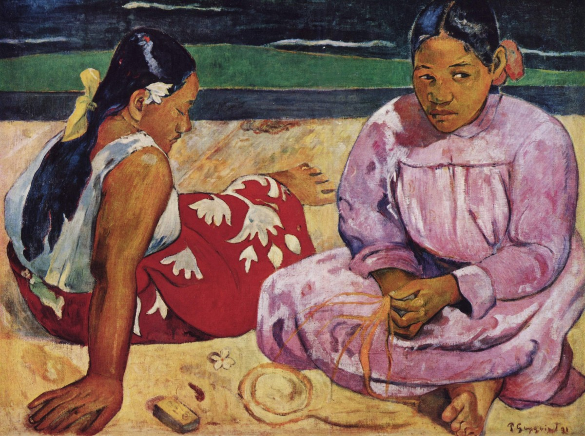 Paul Gauguin, Frauen am Strand, 1891