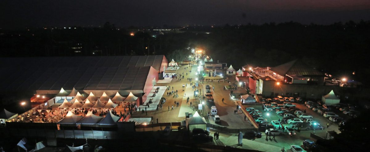 Aerial View, India Art Fair, 2015. Courtesy India Art Fair