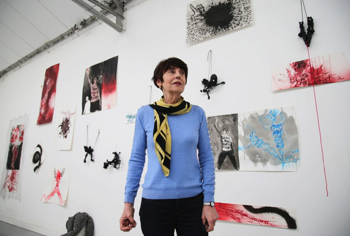 Annette Messager in her Paris studio, 2016. Courtesy of Sankei Shimbun/Japan Art Association