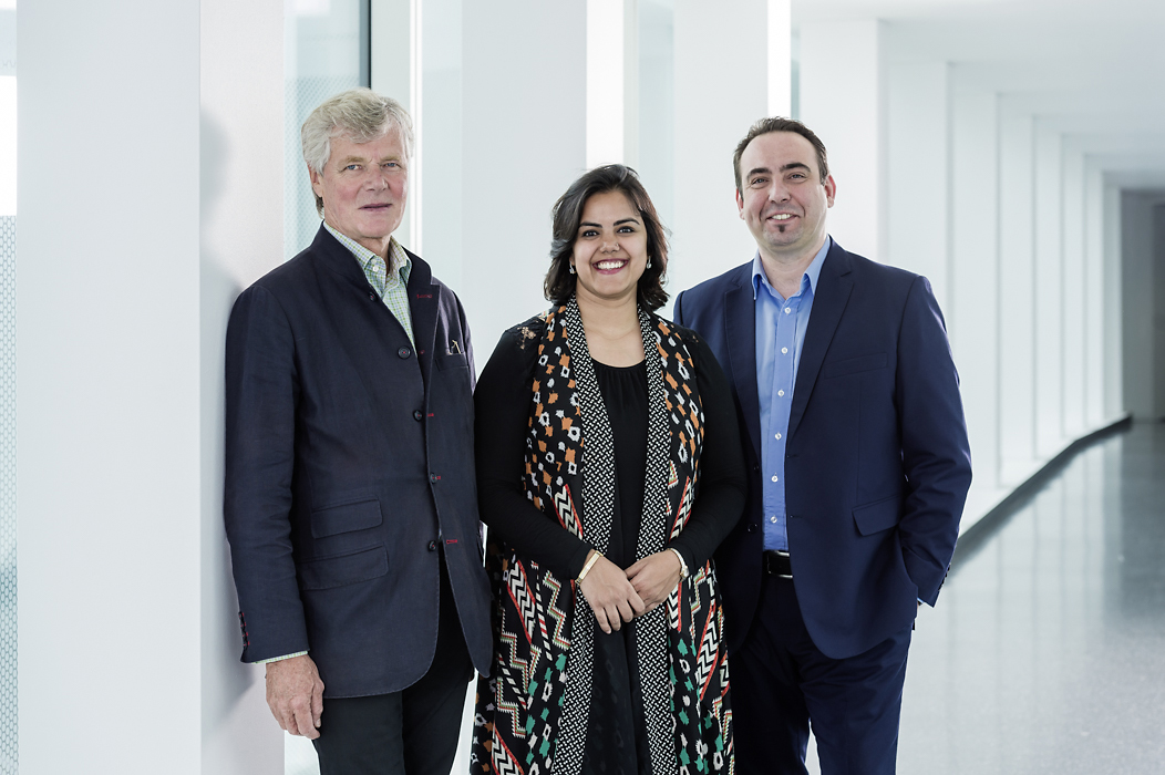 left to right: Sandy Angus, Neha Kirpal, Marco Fazzone