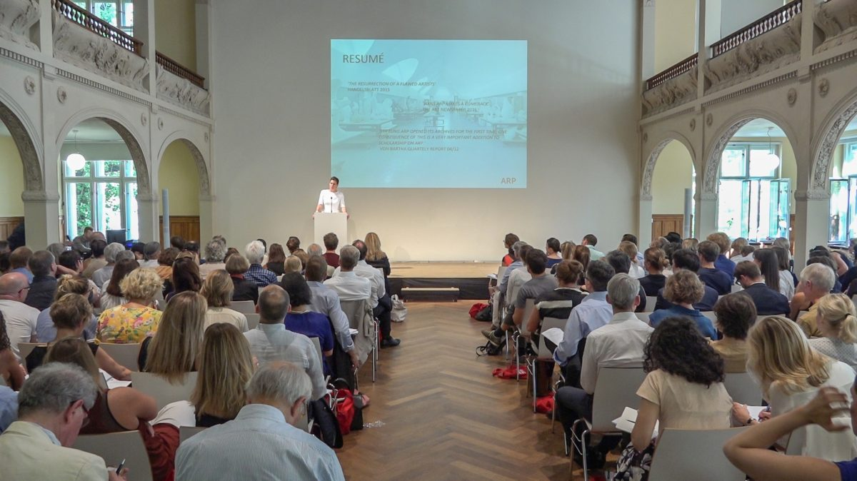 Loretta Würtenberger, Keeping the Legacy Alive, the Institute for Artists' Estates' inaugural conference in Berlin, 2016. Photo OTB Media. Courtesy the Institute for Artists' Estates