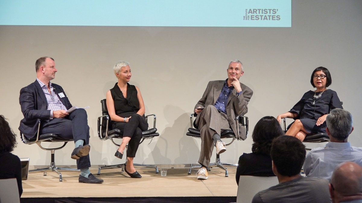 Dr. Thomas Köhler, Joost Declercq and Dr. Arie Hartog at Keeping the Legacy Alive, the Institute for Artists' Estates' inaugural conference in Berlin, 2016. Photo OTB Media. Courtesy the Institute for Artists' Estates