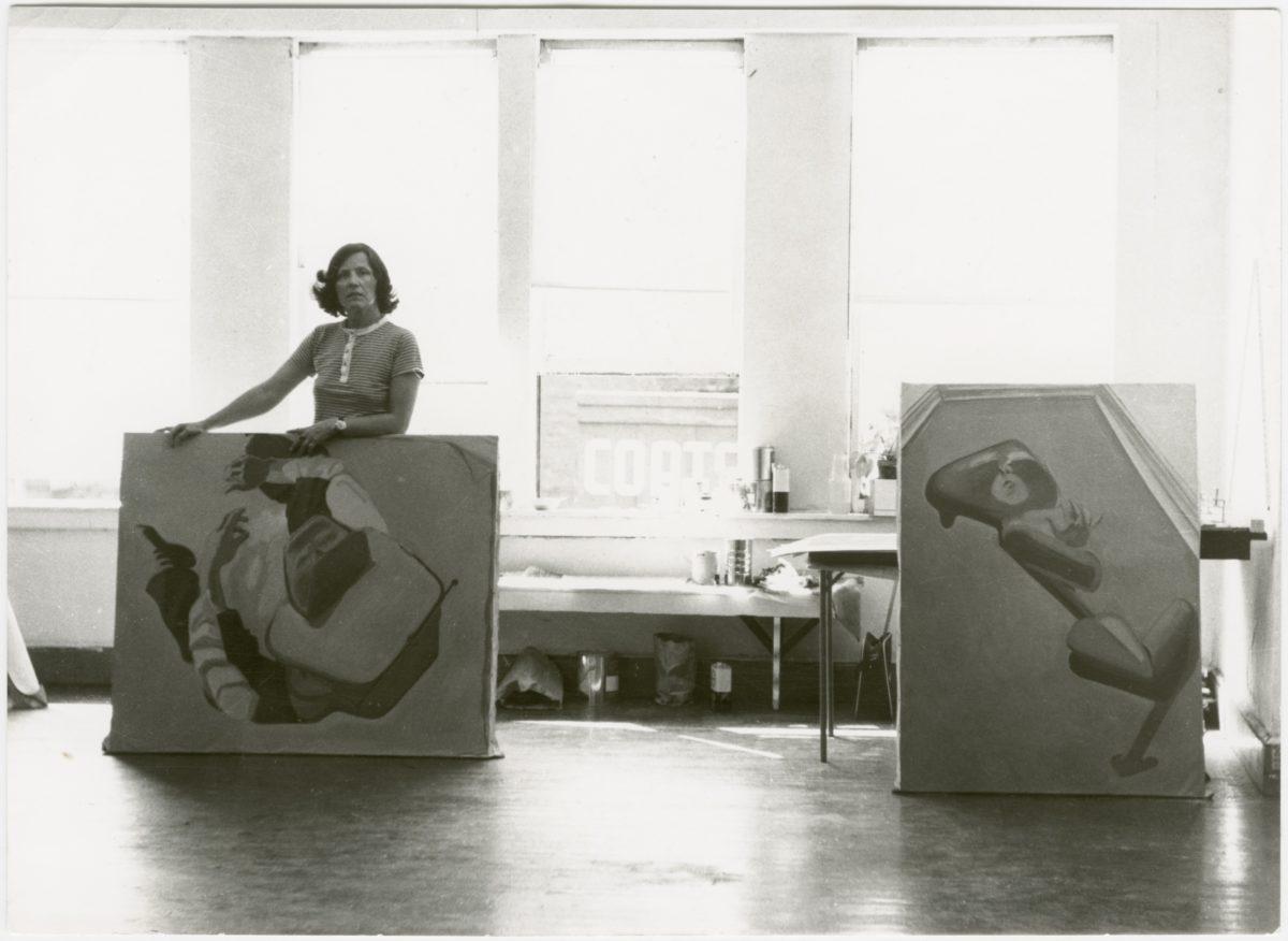 Maria Lassnig, 1969, Studio auf der Avenue B. Foto ML