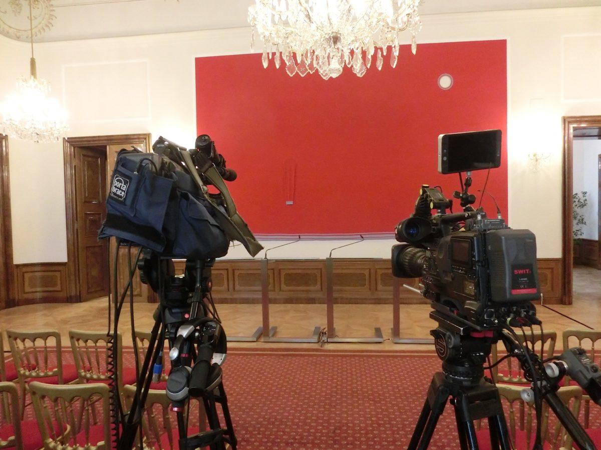 Pressekonferenzraum Kulturministerium // SBV
