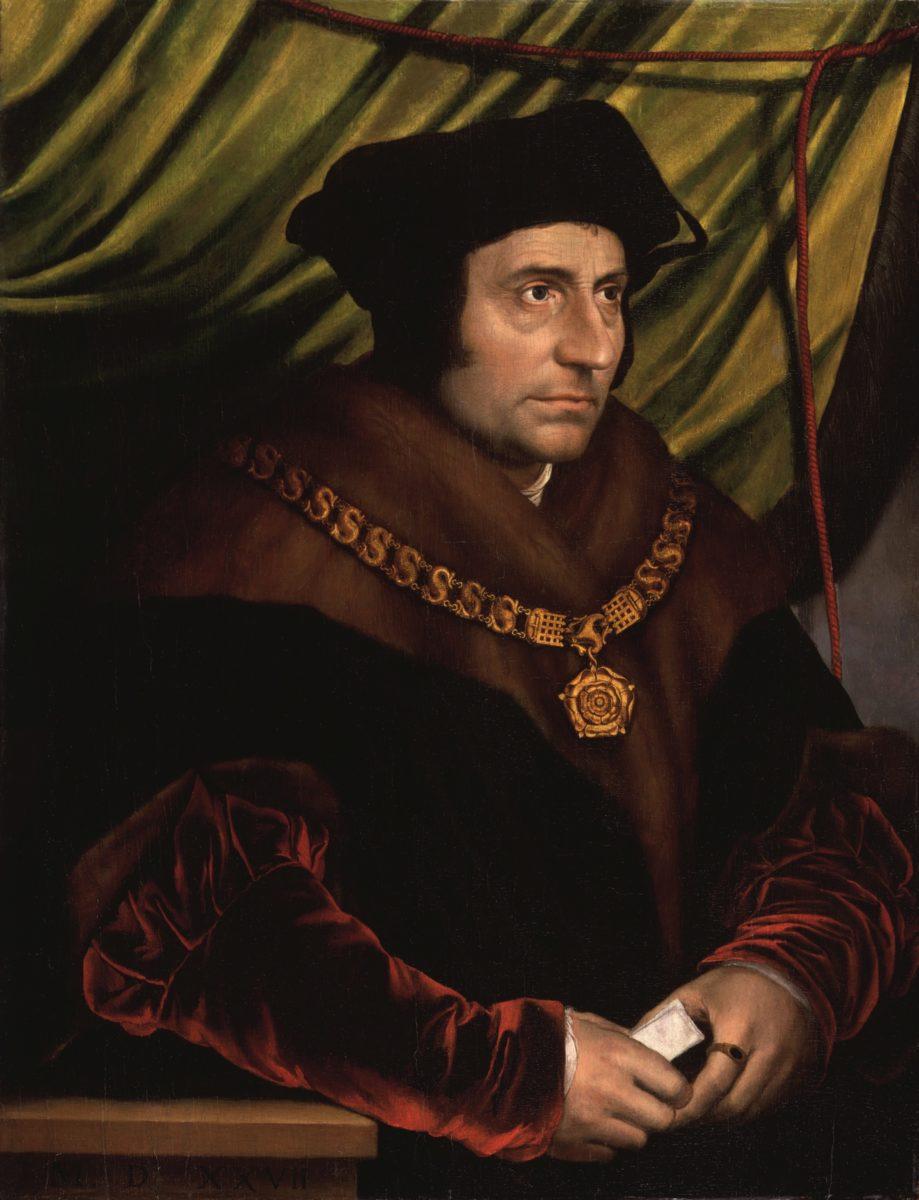 Thomas Morus, Kopie nach Hans Holbein d. J., 527. Londen, National Portrait Gallery