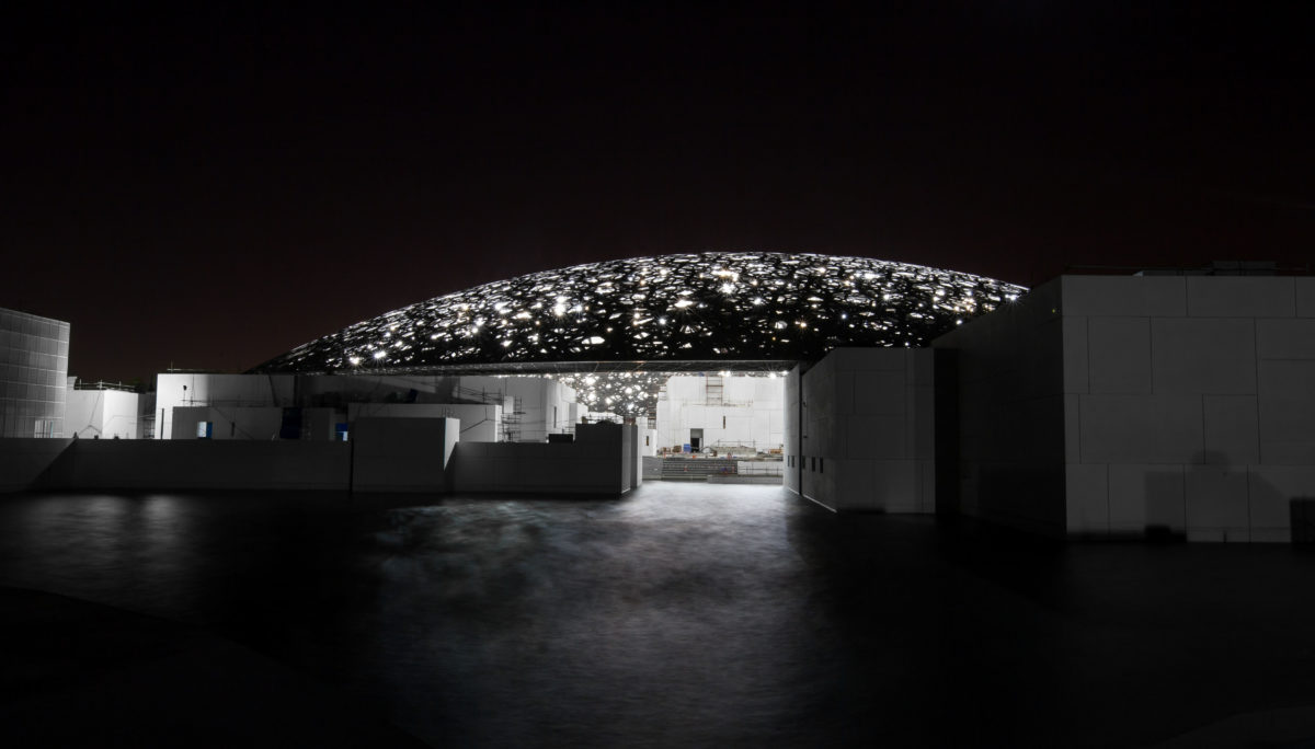 Außenansicht Abu Dhabi Louvre. alle Architekturfotos © Abu Dhabi Tourism & Culture Authority, Architect Ateliers Jean Nouvel