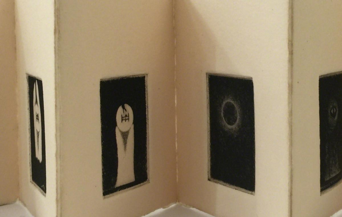 Klaus Lutz, Katzentheater (nach R. Walser), 1976. Rotwand