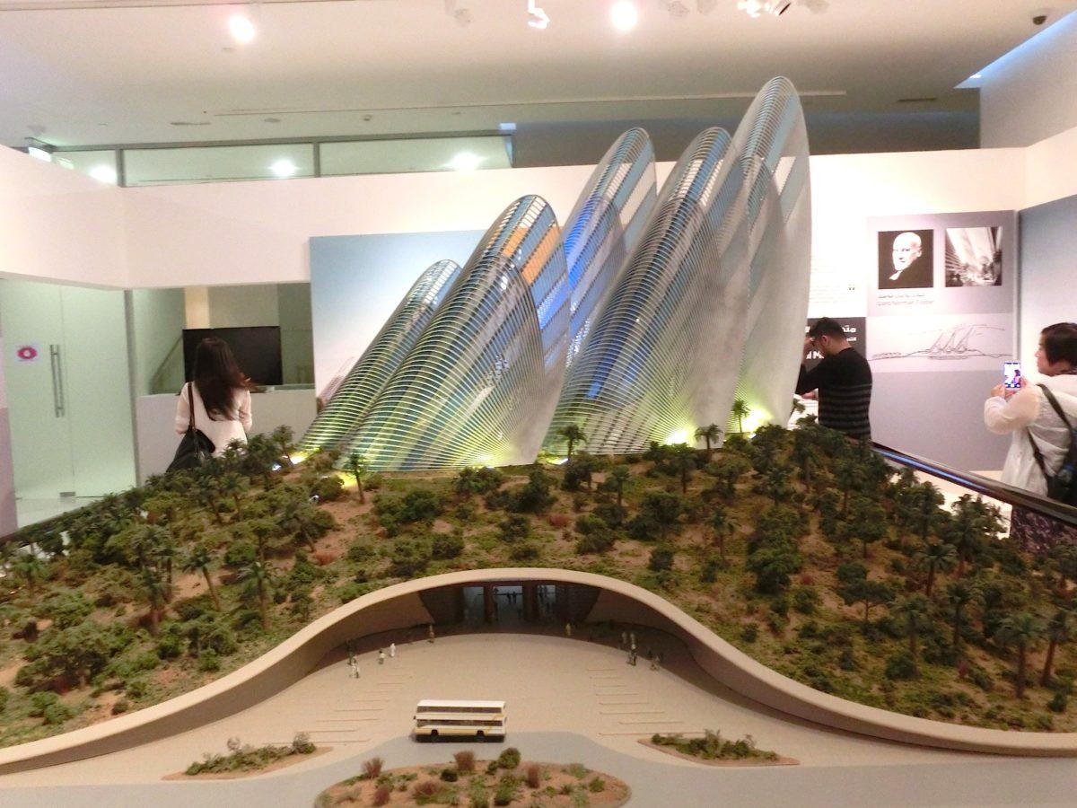 Modell des Zayed National Museum, Abu Dhabi // SBV