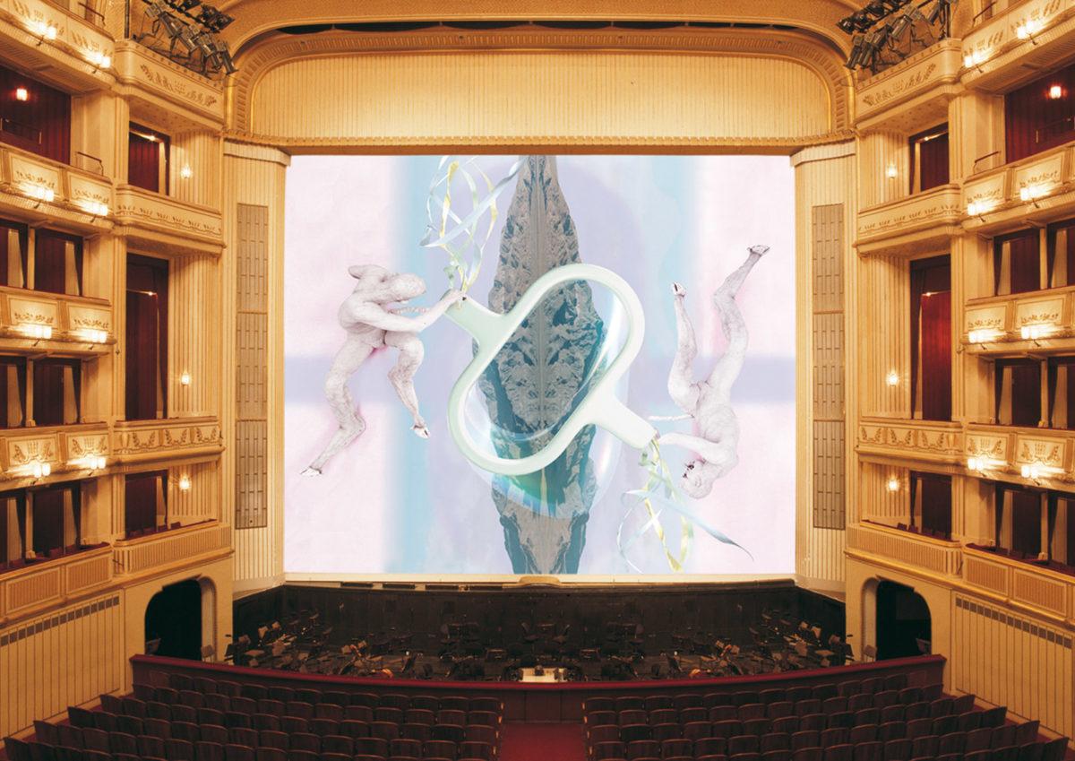 Matthew Barney, Eiserner Vorhang, Wiener Staatsoper, 2000/2001, © museum in progress