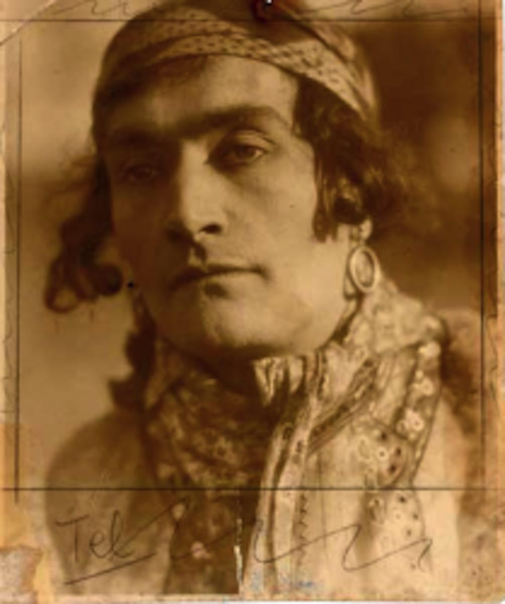 Antonin Artaud dans Tarakanova. Fotografie. Originale, 1929. 11,2 x 9,2 cm