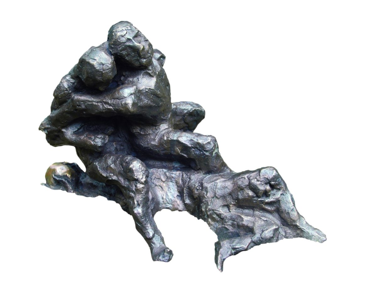 "Alfred Hrdlicka, ""Fussballspieler"", 1998, Bronze, Edition 30, Galerie Ernst Hilger"