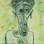 Ibrahim El-Salahi, Self-Portrait of Suffering, 1961. Oil on canvas, 30,4 x 40,6 cm, Iwalewa-Haus, University of Bayreuth, Germany. © VG Bild-Kunst, Bonn 2016