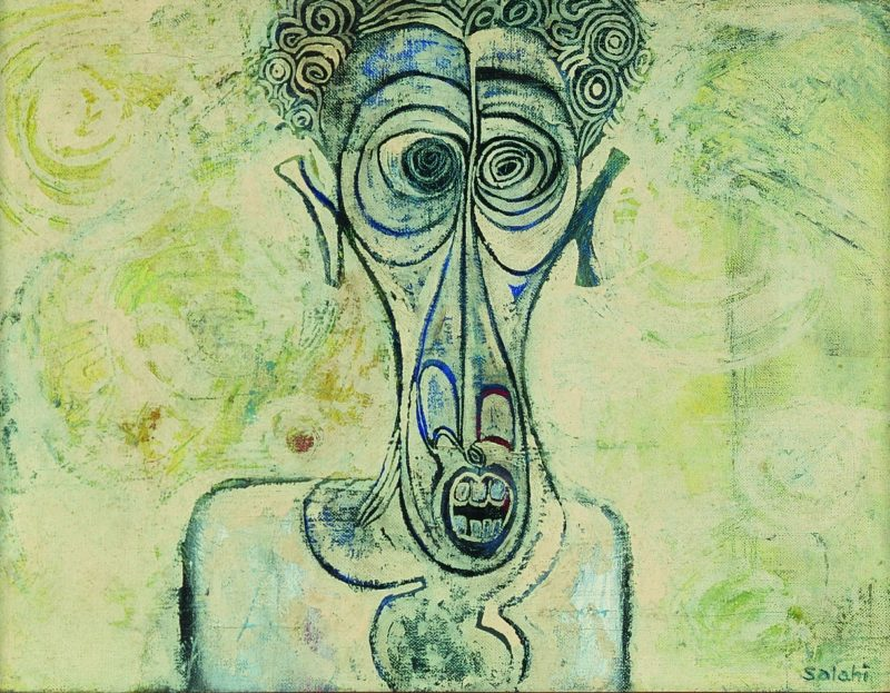 Ibrahim El-Salahi, Self-Portrait of Suffering, 1961. Oil on canvas, 30,4 x 40,6 cm, Iwalewa-Haus, University of Bayreuth, Germany. © VG Bild-Kunst, Bonn 2016