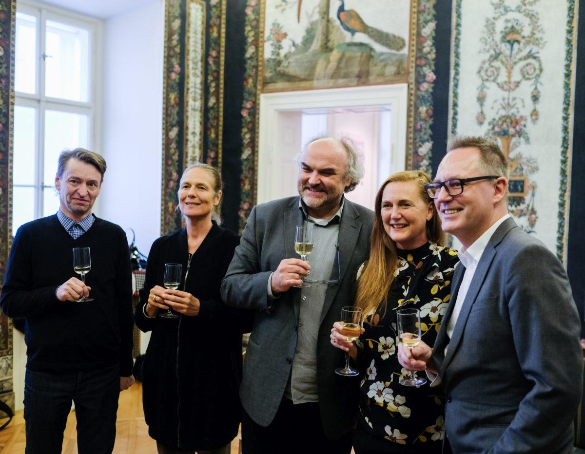Boris Ondreicka, Daniela Zyman, Jiří Fajt, Francesca Habsburg, Adam Budak, 2017, Foto Martin Pollack