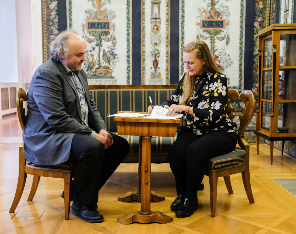 Jiří Fajt and Francesca von Habsburg, 2017, Foto Martin Pollack