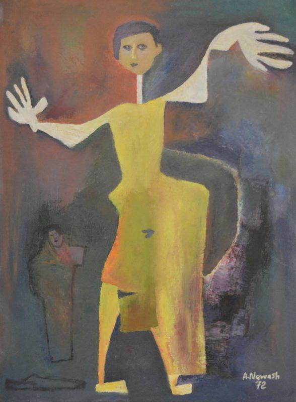 Ahmad Nawash,77x65, 1972,Oil on Canvas, Gallery, Amman