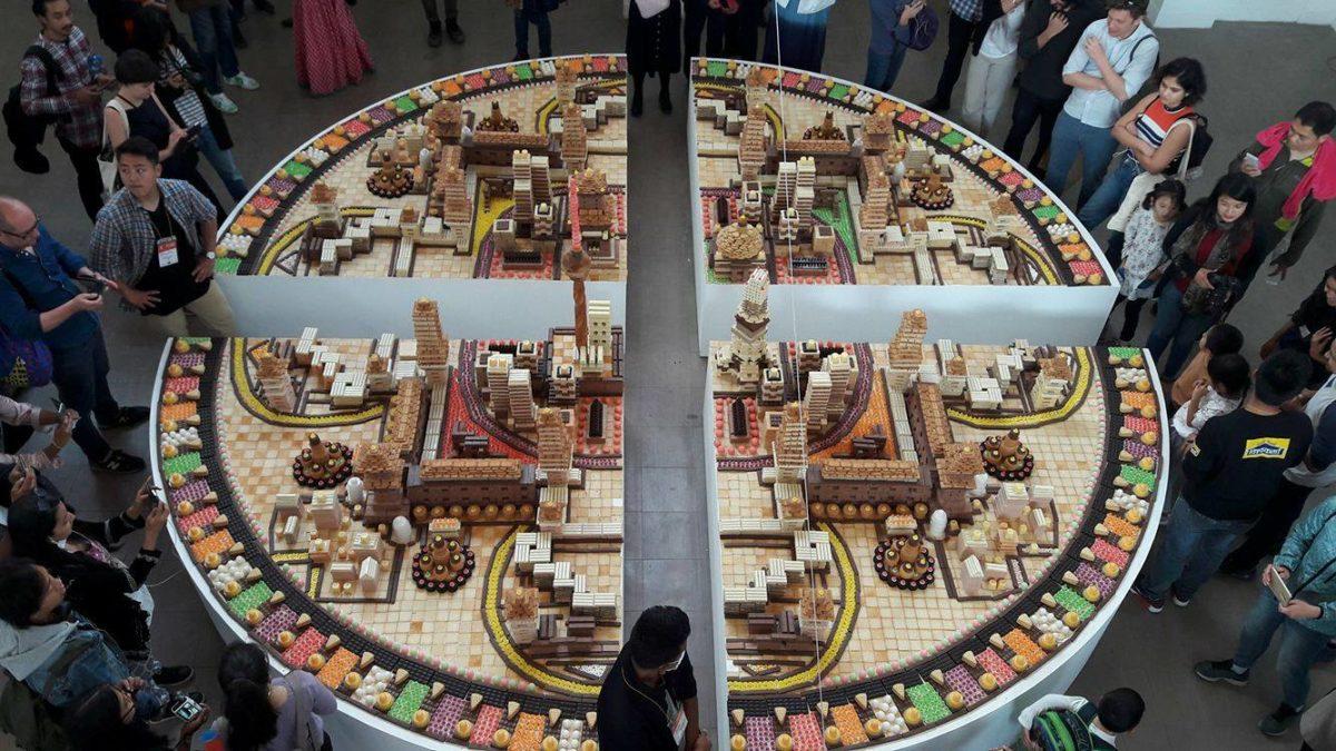 Song Dong (China), Mandala City for Eating, 2017. Backwaren, Süßigkeiten. Foto SBV