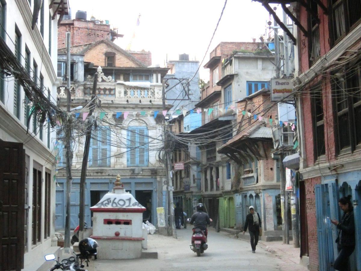 Straße in Patan, Kathmandu, Foto SBV