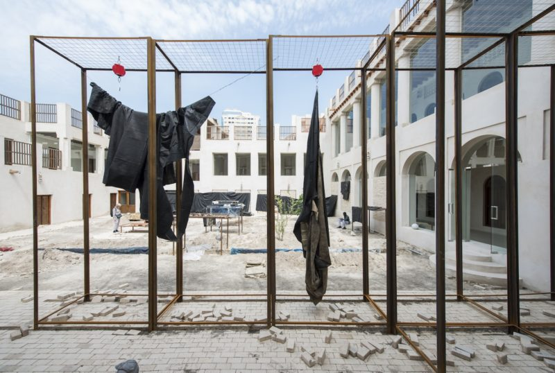 Oscar Murillo, Conditions yet not known, 2014–2017, mixed media. Foto Sharjah Art Foundation