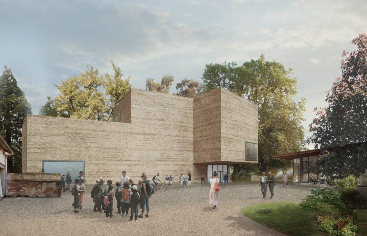 Erweiterungsprojekt aus dem Berower Park. Courtesy Atelier Peter Zumthor & Partner