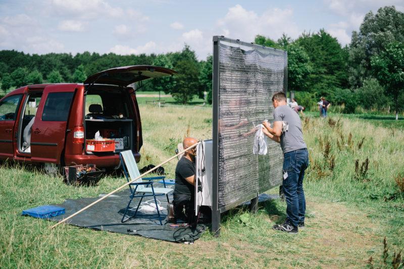 Reparatur am Projekt von Ei Arakawa, Foto: Hubertus Huvermann