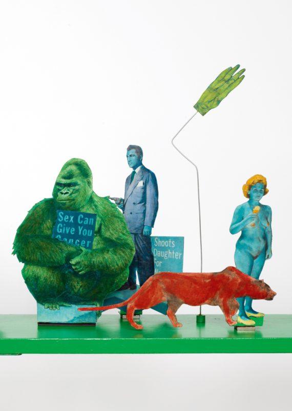 Öyvind Fahlström, Green Seesaw (Detail), 1968–1969 Foto: mumok © Bildrecht Wien, 2017