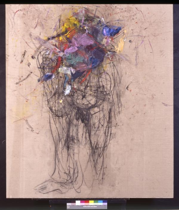 Martha JUNGWIRTH, Monster im Garten, 1995, Öl auf Leinwand, Universität für angewandte Kunst Wien, Kunstsammlung und Archiv / Bildrecht GmbH, Wien, 2017
