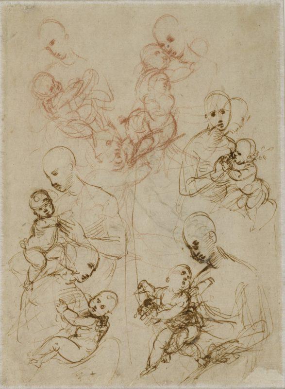 Raffael, Madonnenstudien, 1506-1507 © Albertina, Wien