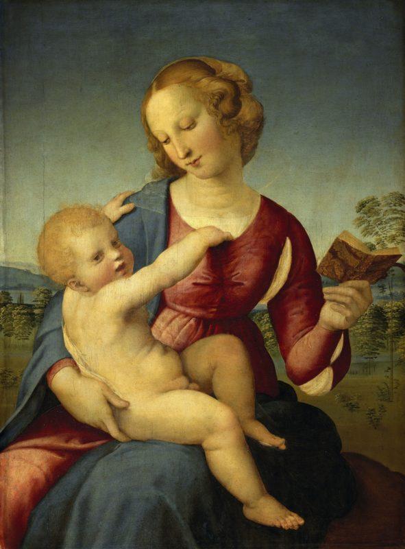 Raffael, Maria mit dem Kind (Madonna Colonna), 1508. © Gemäldegalerie Staatliche Museen zu Berlin, Preußischer Kulturbesitz Foto: Jörg P. Anders