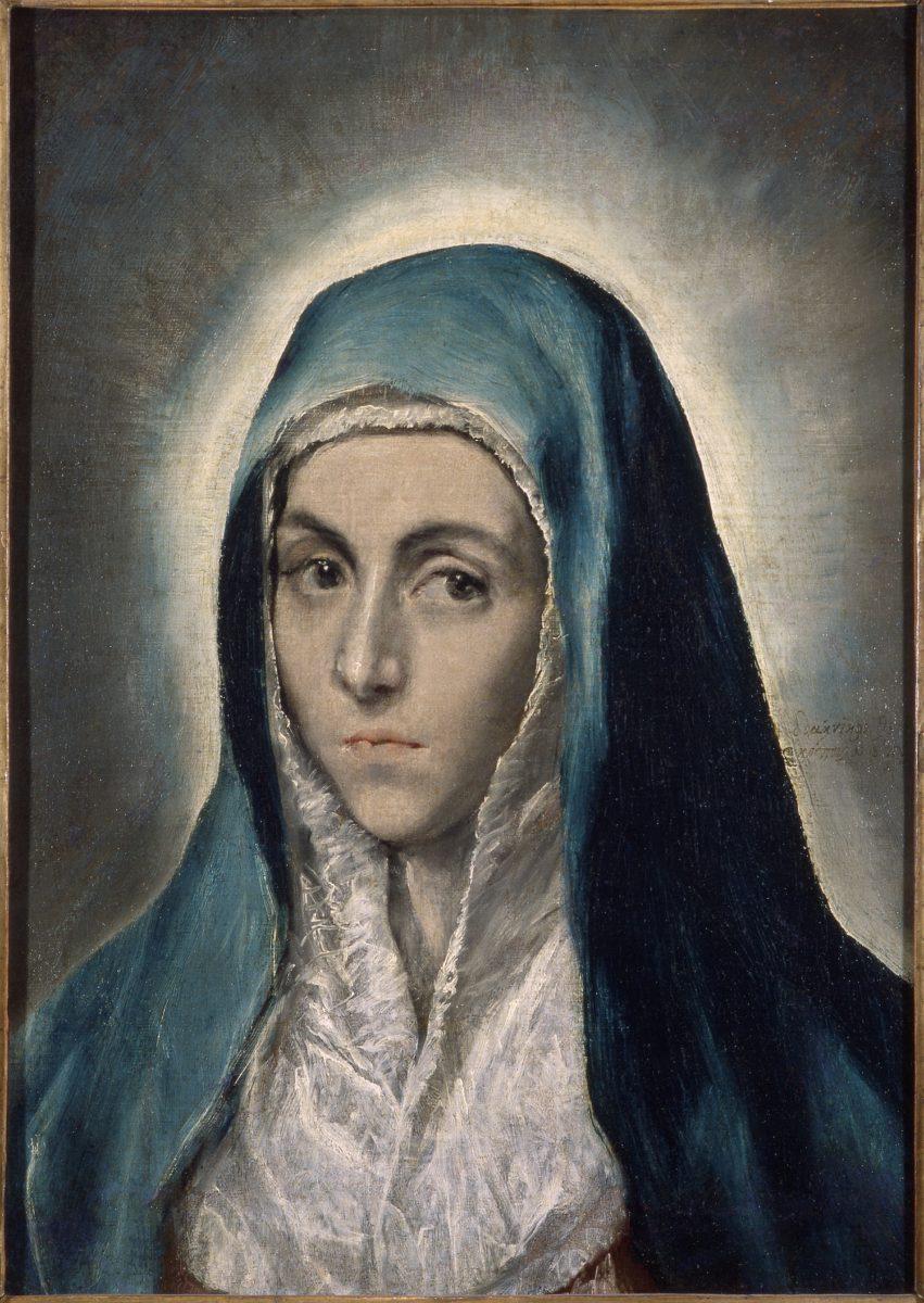 Le Greco, « Portrait » de la Vierge, autrefois appelé Mater Dolorosa