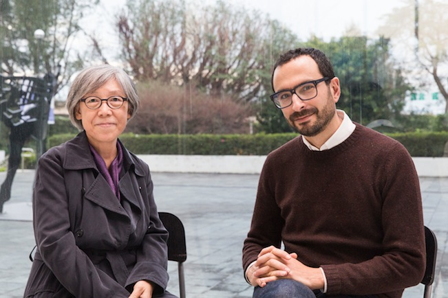 2018 Taipei Biennial Co-Curators, Mali Wu (L) and Francesco Manacorda (R) ©Taipei Fine Arts Museum