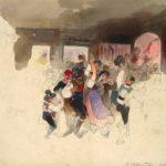 Carl Schindler, Am Tanzboden, 1840. Albertina Wien
