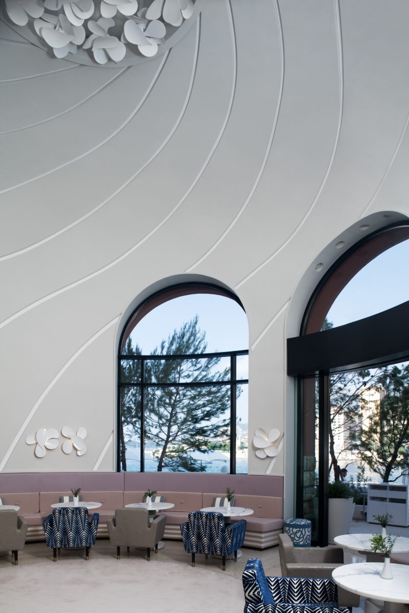 Lobby des Hotels Monte Carlo Beach, Design