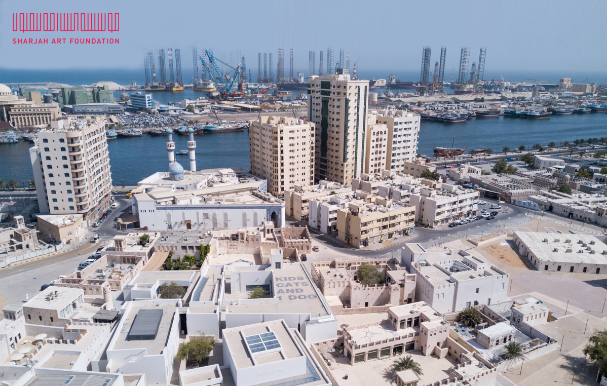 Al Mureijah Sqaure, 2017. Aerial View. Image courtesy of Sharjah Art Foundation