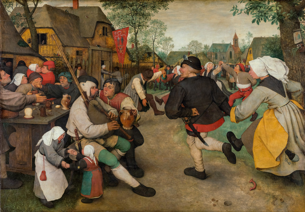 Pieter Bruegel, Bauerntanz, ca. 1567 KHM Wien